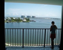 Balcony view from Back Bay Condos in Orange Beach