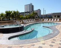 Beach side pool at Crystal Tower Condos Gulf Shores AL
