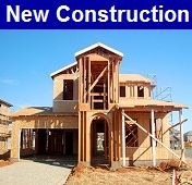 New homes under construction in Gulf Shores Alabama.
