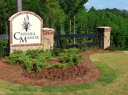 Cahaba Manor Entrance